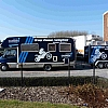 groep caenen - mobilhome - Een oude mobil-home werd eerst dmv car-wrapping volledig voorzien van een blauwe tint. Daarna werd de nodige publicteit aangebracht. Een mooie sponsering voor een cross-team