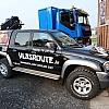 Vyncke vlasroute - De terreinwagen is omgetoverd tot een mooi juweeltje. Maximale benutting van de plaats door clear vision op de vensters die doorlopen met de tekening tot over de carrosserie.