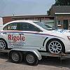 rigole sanitair - Een nieuwe mitsubishi evo X. Voorzien van de nieuwe striping van de firma rigole sanitair.